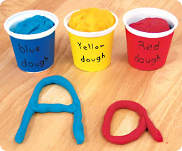 play-dough-letters