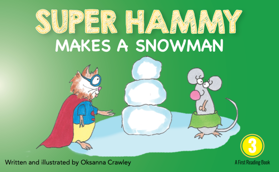 Super Hammy Makes a Snowman - cover