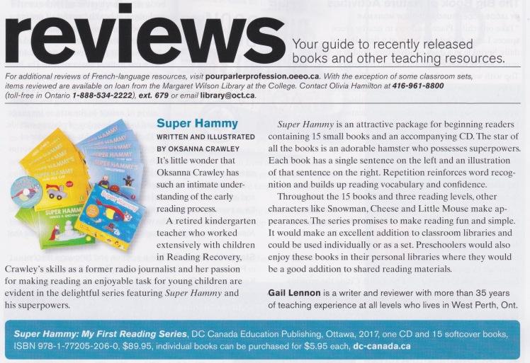 Review-Super Hammy-Professionally Speaking-Dec.2017